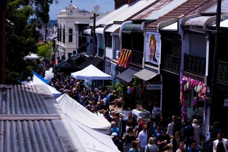 Locals get amongst the buzz at last year's Williams Street Festival.